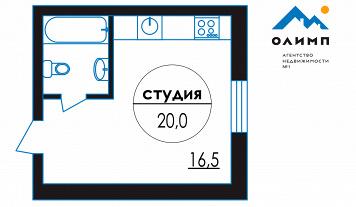 Студия, д. Емельяново, улица Емельяновская, д. 2Б